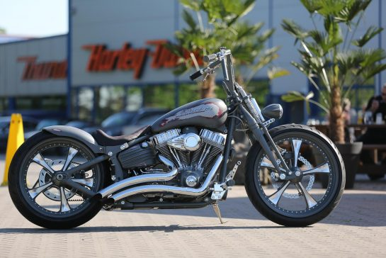 Customized Harley Davidson Softail Rocker Motorcycles By Thunderbike
