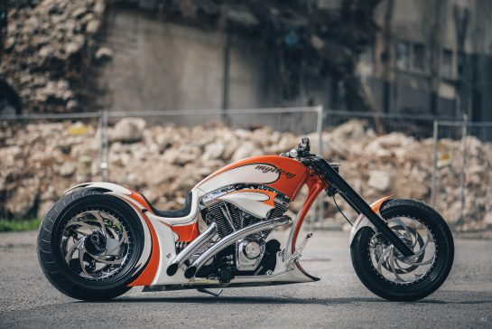Dragster Custombikes with Harley-Davidson engines by Thunderbike