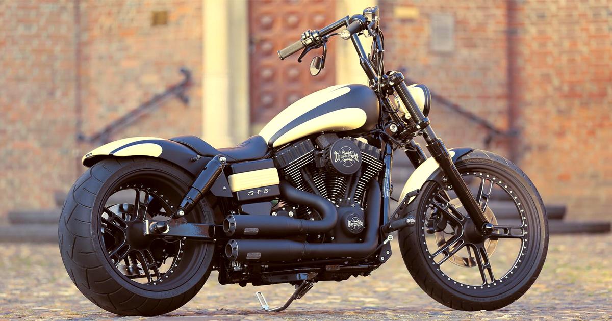 Customized Harley Davidson Street Bob Motorcycles By Thunderbike