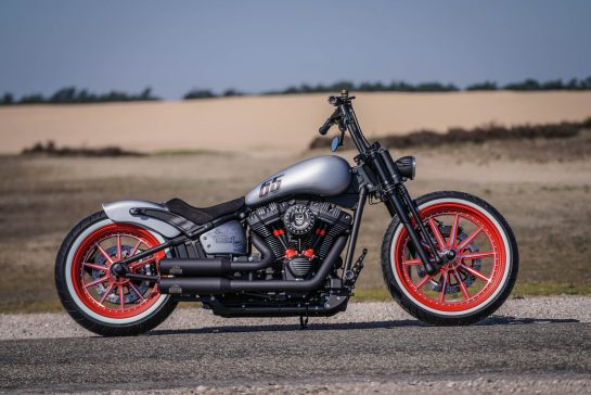 Customized Harley-Davidson Street Bob motorcycles by Thunderbike