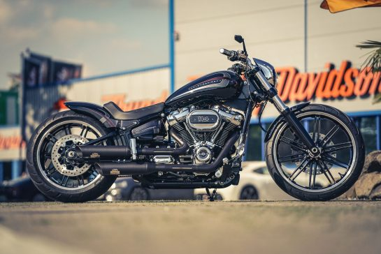Customized Harley-Davidson Softail Breakout motorcycles by