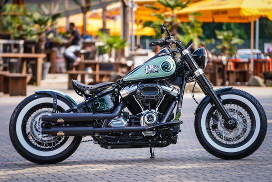 Customized Harley-Davidson Softail Slim motorcycles by