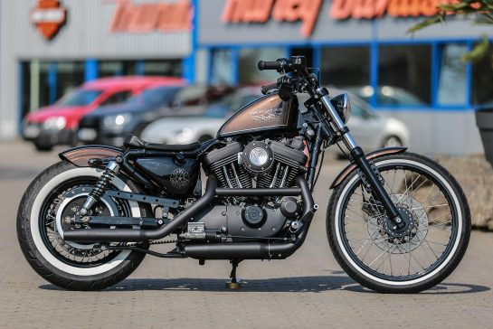 Customized Harley-Davidson Sportster Motorcycles by Thunderbike