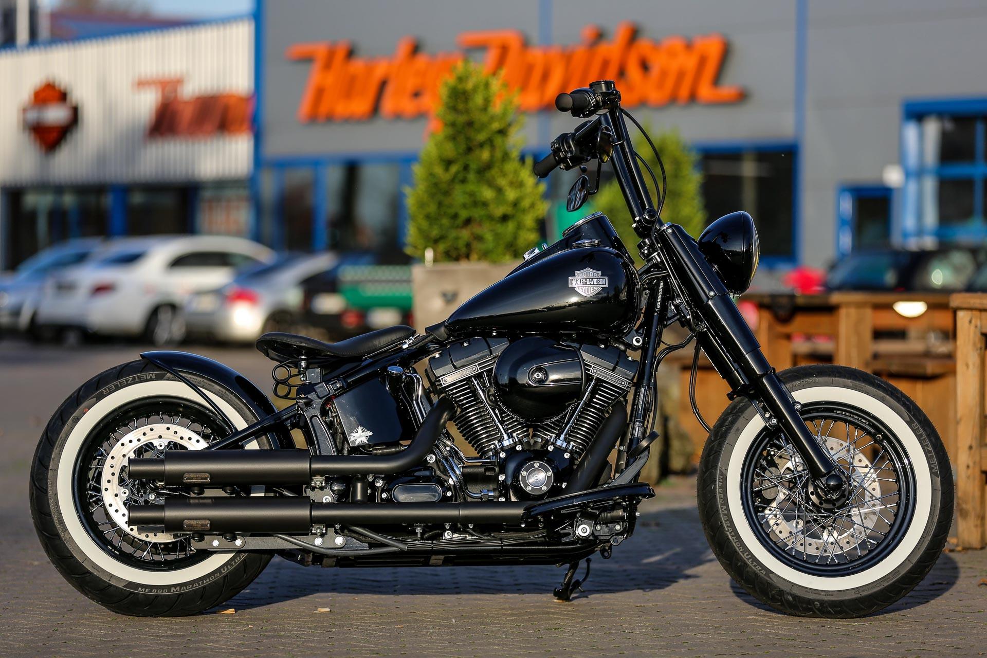 Harley Softail Slim >> Thunderbike Black Gloss • H-D Softail Slim FLS Custom ...