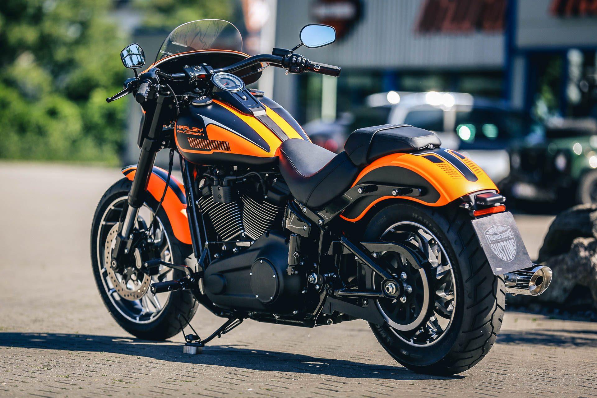 thunderbike orangeglide customized h d softail sport. Black Bedroom Furniture Sets. Home Design Ideas