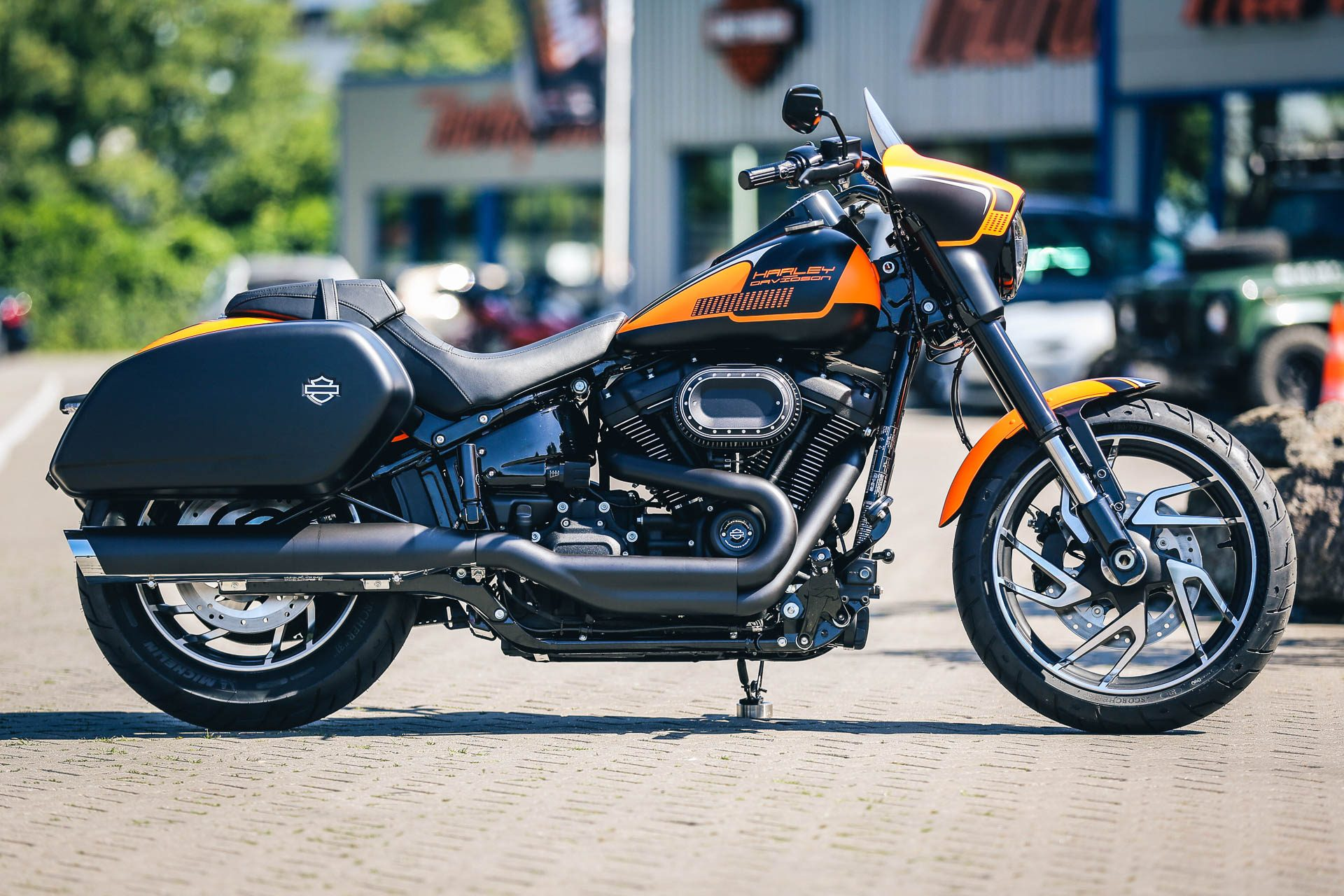 Thunderbike Orangeglide Customized H D Softail Sport