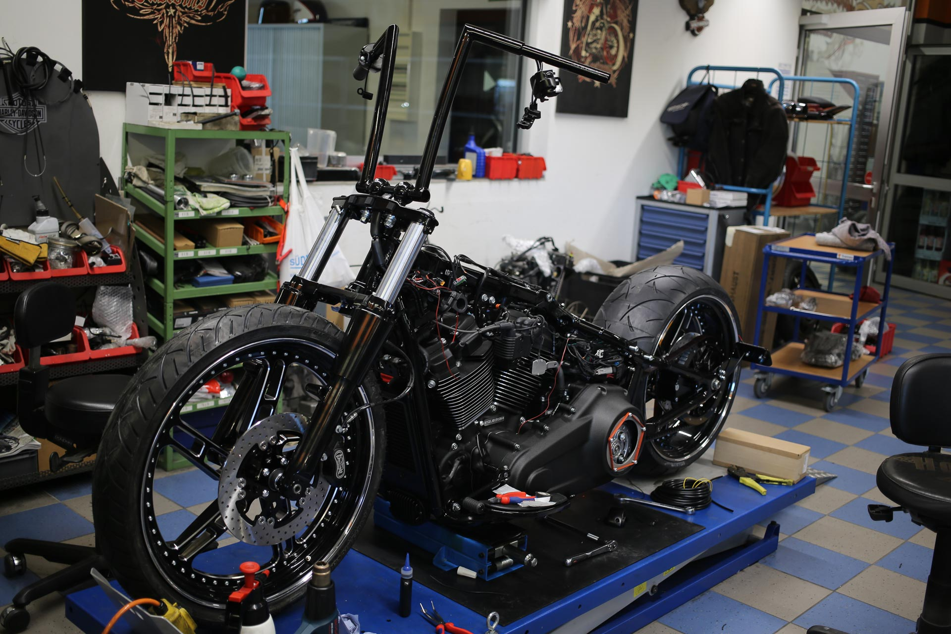 Thunderbike Black Apple • H D Fat Boy FLFBS Custom Motorcycle