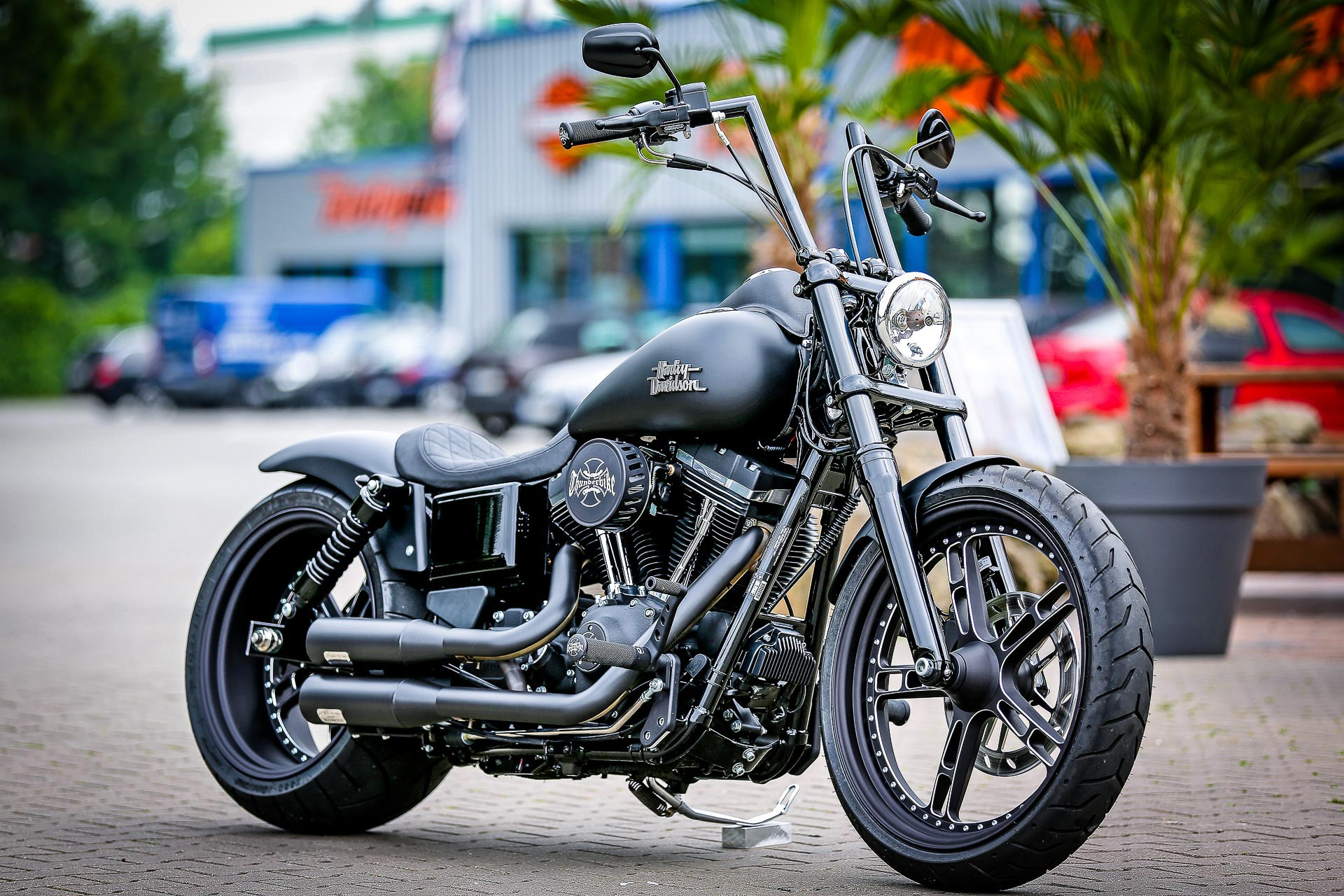 Thunderbike Black Denim H D Street Bob Fxdb Custom
