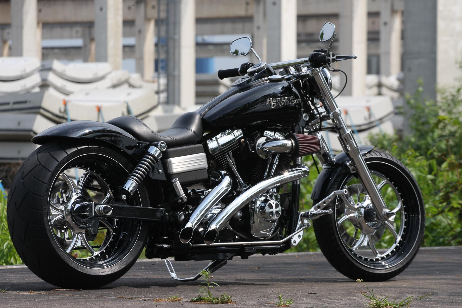 thunderbike gothic h d street bob fxdb custom motorcycle. Black Bedroom Furniture Sets. Home Design Ideas